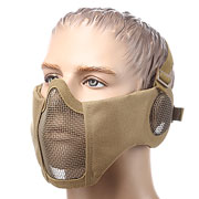 ASG Strike Systems Mesh Mask Gittermaske Full Lower Face mit Ohrabdeckung tan