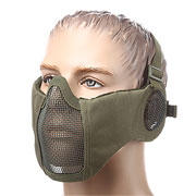ASG Strike Systems Mesh Mask Gittermaske Full Lower Face mit Ohrabdeckung oliv