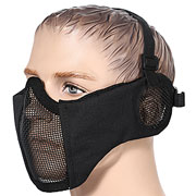 ASG Strike Systems Mesh Mask Gittermaske Full Lower Face mit Ohrabdeckung schwarz
