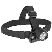 Mil-Tec Stirnlampe 6 LED plus 1 Headlight schwarz