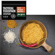 Tactical Foodpack Outdoor Mahlzeit Curry-Hühnchen und Reis