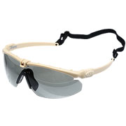 Nuprol Battle Pro Protective Airsoft Schutzbrille tan / rauch
