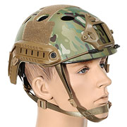 Nuprol FAST Railed Airsoft Helm mit NVG Mount MC-Camo