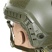 Nuprol FAST Railed Airsoft Helm mit NVG Mount oliv