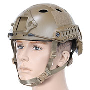 Nuprol FAST Railed Airsoft Helm mit NVG Mount tan