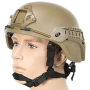Nuprol MICH 2000 Railed Airsoft Helm mit NVG Mount tan