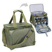 Commando Industries Kühltasche Cooler Bag 20 Liter mit Picknick-Set oliv