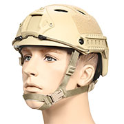nHelmet FAST PJ Standard Railed Airsoft Helm mit NVG Mount Dark Earth