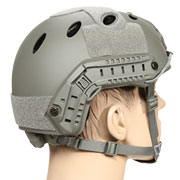 nHelmet FAST PJ Standard Railed Airsoft Helm mit NVG Mount Foliage Green