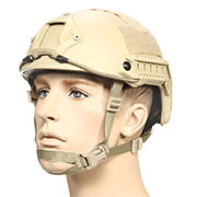 nHelmet FAST Standard Railed Airsoft Helm mit NVG Mount Dark Earth