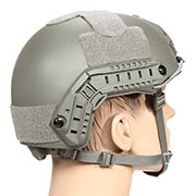 nHelmet FAST Standard Railed Airsoft Helm mit NVG Mount Foliage Green
