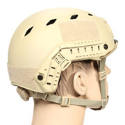 nHelmet FAST BJ Standard Railed Airsoft Helm mit NVG Mount Dark Earth
