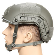 nHelmet FAST Maritime Standard Railed Airsoft Helm mit NVG Mount Foliage Green