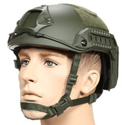 nHelmet FAST Maritime Standard Railed Airsoft Helm mit NVG Mount oliv