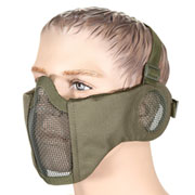 Nuprol Mesh Mask V3 Gittermaske Lower Face Shield mit Ohrabdeckung oliv
