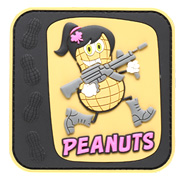 JTG 3D Rubber Patch Peanuts Girl Klettfläche