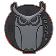 JTG 3D Rubber Patch mit Klettfläche No Sleep - SpecialOps grau
