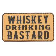 JTG 3D Rubber Patch mit Klettfläche Whiskey Drinking Bastard coyote