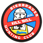 JTG 3D Rubber Patch mit Klettfläche Kill Bill Bierbrauer Limited Edition