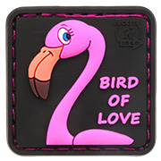 JTG 3D Rubber Patch mit Klettfläche Bird of Love Limited Edition mit Erdbeerduft