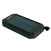 Basic Nature Solar-Powerbank 8 schwarz 8.000 mAh