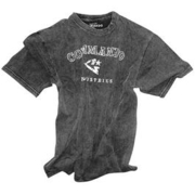 T-Shirt Vintage Logo acid washed, schwarz