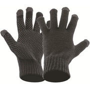 Highlander Handschuhe Strick Touch Screen schwarz