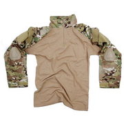 Tactical Shirt Warrior mit Elbow Pads dtc/multi