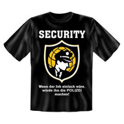 Rahmenlos T-Shirt Security