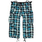 Brandit Industry Vintage 3/4 Short turquoise checkered