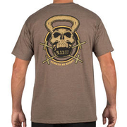 5.11 T-Shirt Recon Skull Kettle brown heather