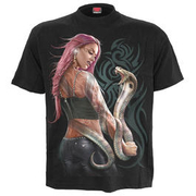 Spiral T-Shirt Serpent Tattoo schwarz