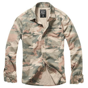 Brandit Hemd Josh Shirt light woodland