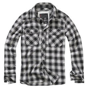 Brandit Checkshirt Great Creek schwarz/weiß kariert