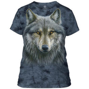 The Mountain Damen T-Shirt Warrior Wolf