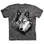 The Mountain T-Shirt Wolf Portrait