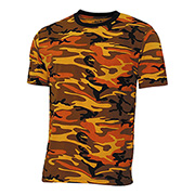 MFH US T-Shirt Streetstyle orange-camo