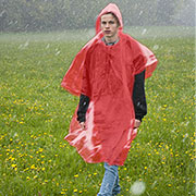 Relags Notfall-Regenponcho PE rot