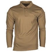 Mil-Tec Poloshirt Langarm Tactical Quick Dry dark coyote