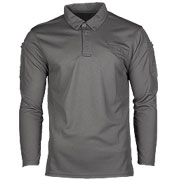 Mil-Tec Poloshirt Langarm Tactical Quick Dry urban grey