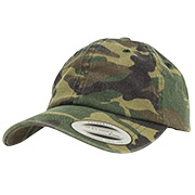 Baseball Cap Low Profile Camo Washed Cap woodland