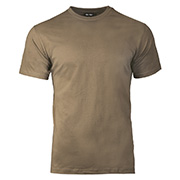 T-Shirt Basic Baumwolle coyote brown