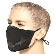 Mil-Tec Stoffmaske V-Shape multitarn black