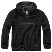 Brandit Kapuzenpullover Teddy Fleece Worker schwarz