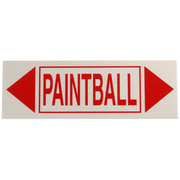 Schild PAINTBALL 60x20