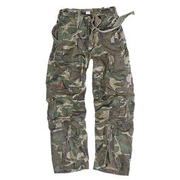 Infantry Cargo Trousers Surplus, woodland gewaschen