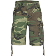 Paratrooper Shorts washed woodland