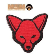 Mil-Spec Monkey Fox Head Patch Red