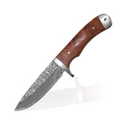 Fox Outdoor Damastmesser mit Lederscheide