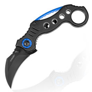 Haller Karambit Einhandmesser Tame Blue Circle